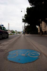 fahrradweg in wien