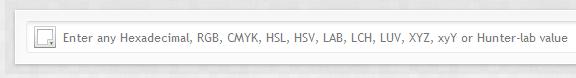 colorhexa input screenshot