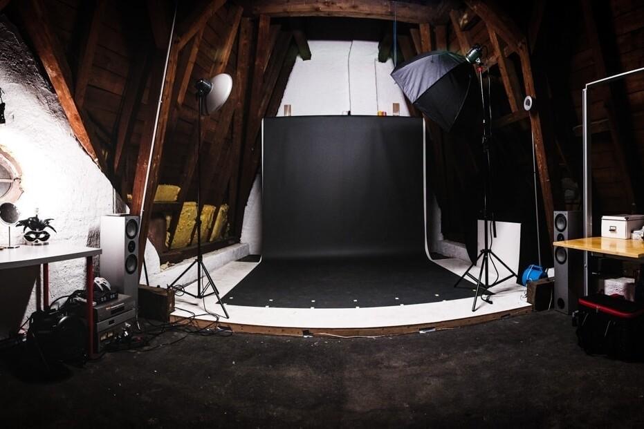 Panoramaansicht des Studios von Kliewer Fotografie in Trier Innenstadt