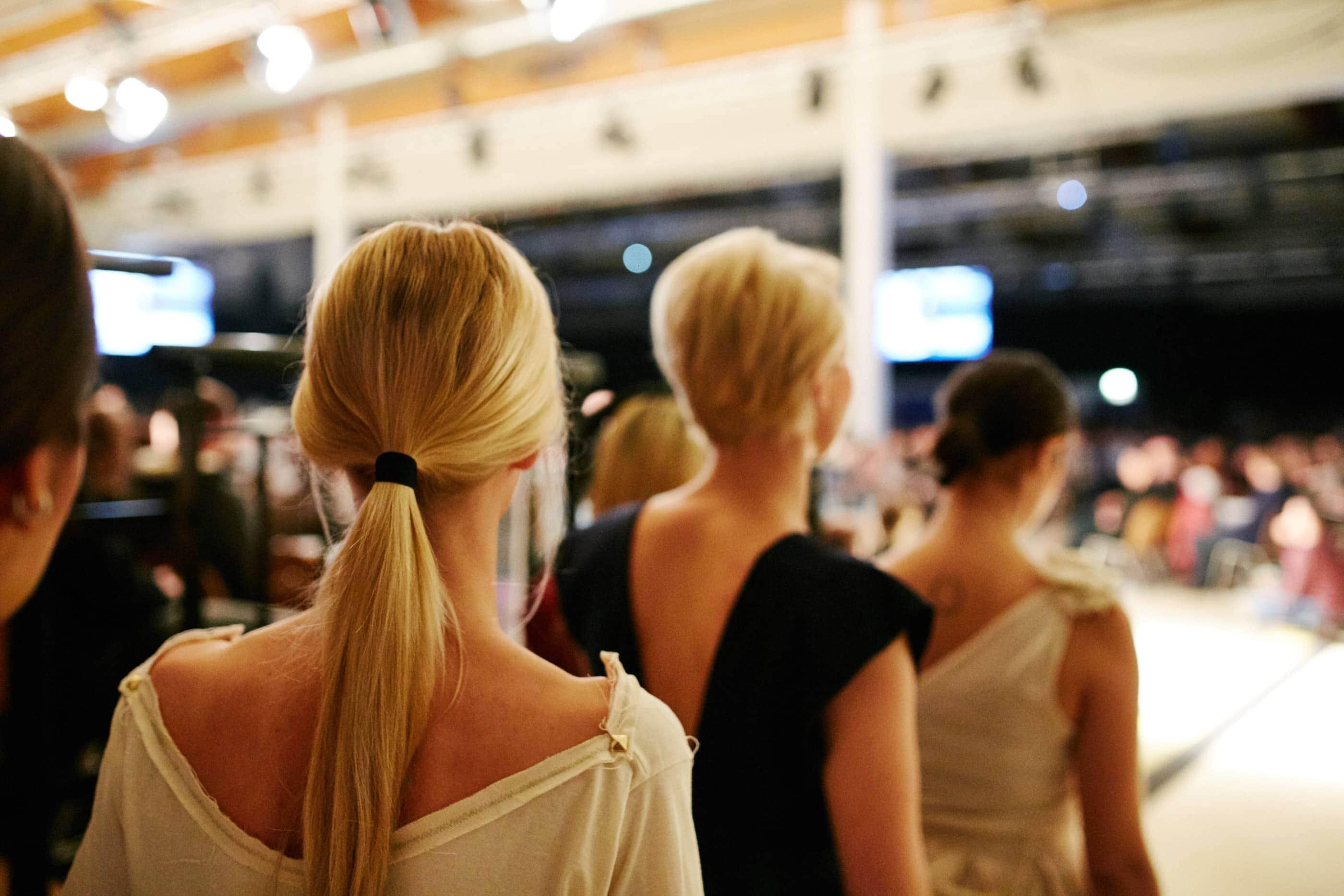 Fashion Fotografie auf der Modenschau in der Messehalle Trier