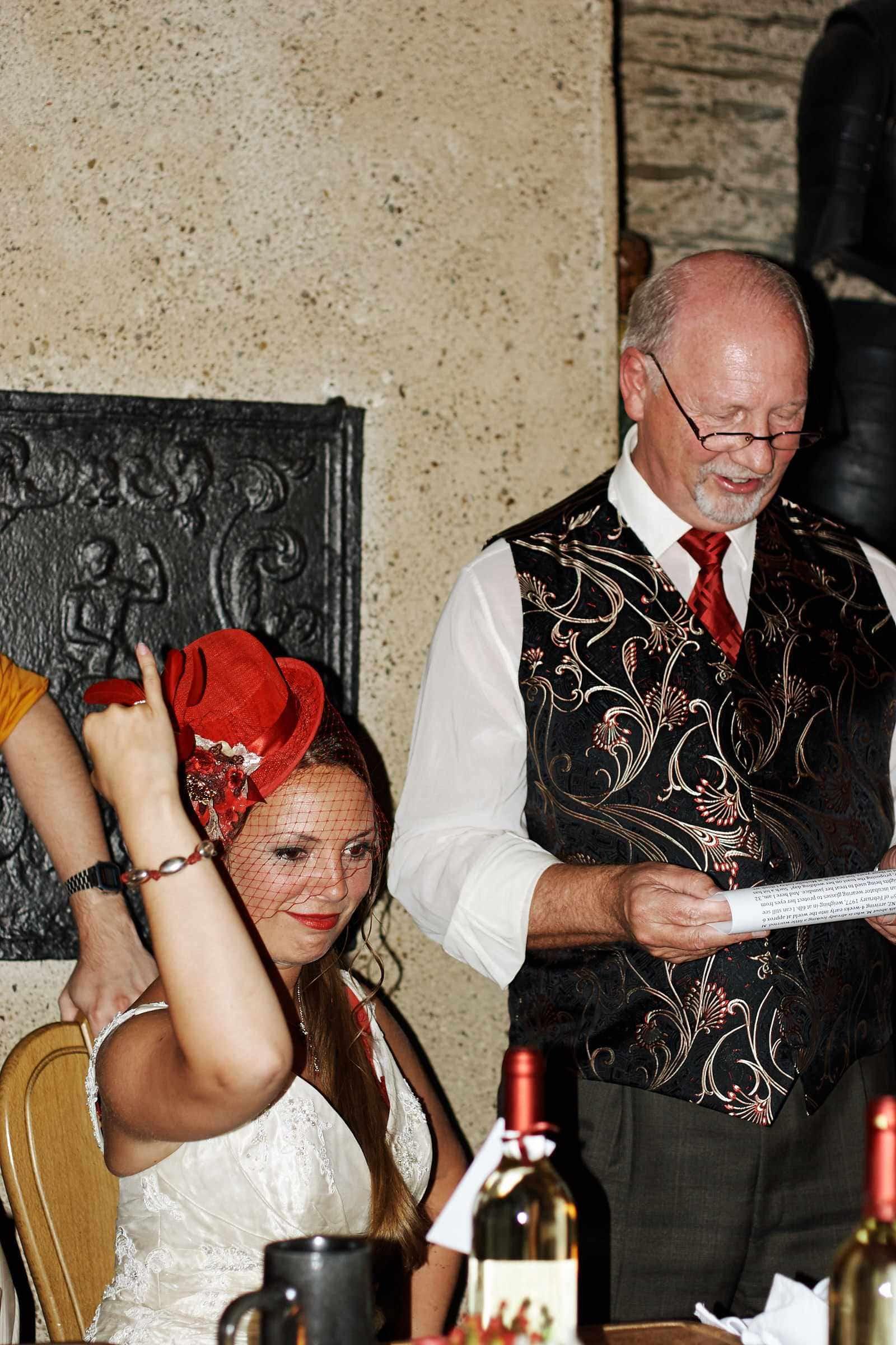 Ansprache Brautvater, fotografiert vom Hochzeitsfotograf in Trier