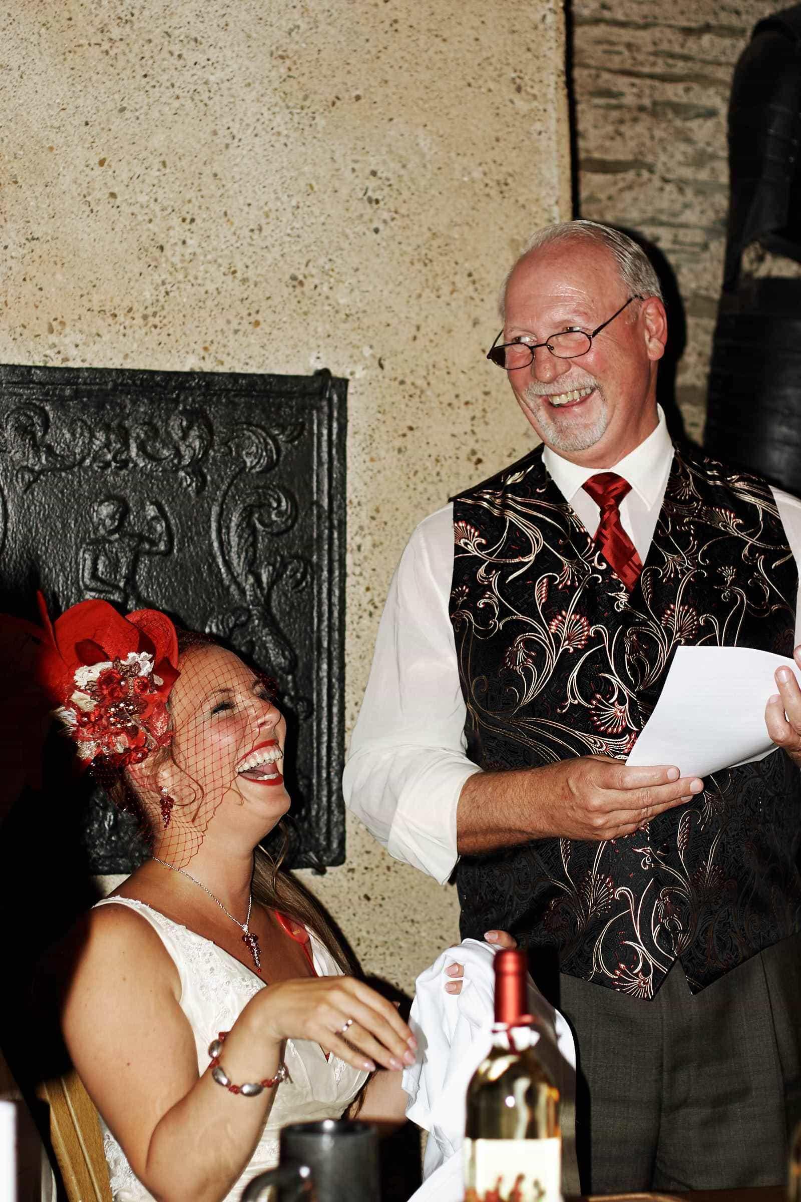 Ansprache Brautvater, fotografiert vom Fotograf für Hochzeiten aus Trier