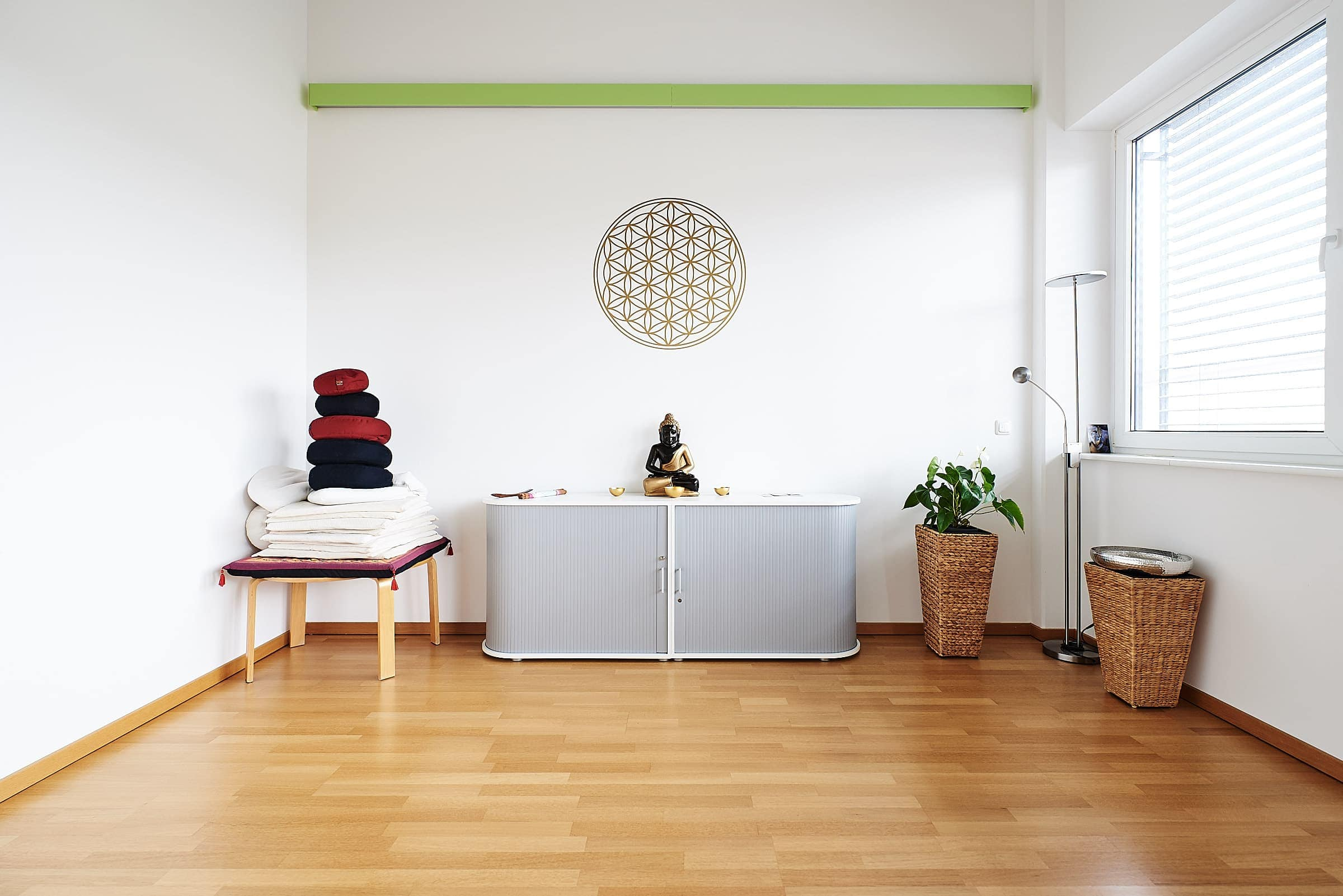 Firmenfotograf Trier Interieur Yogaschule Meditationsraum