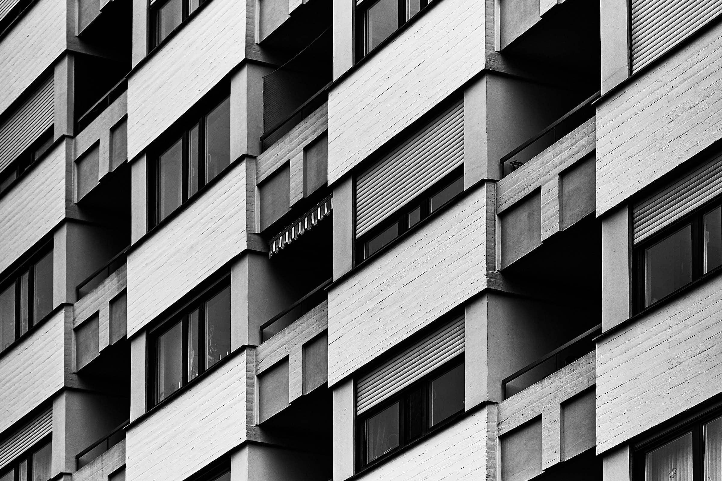 architekturfotografie trier wohnhaus mit balkon