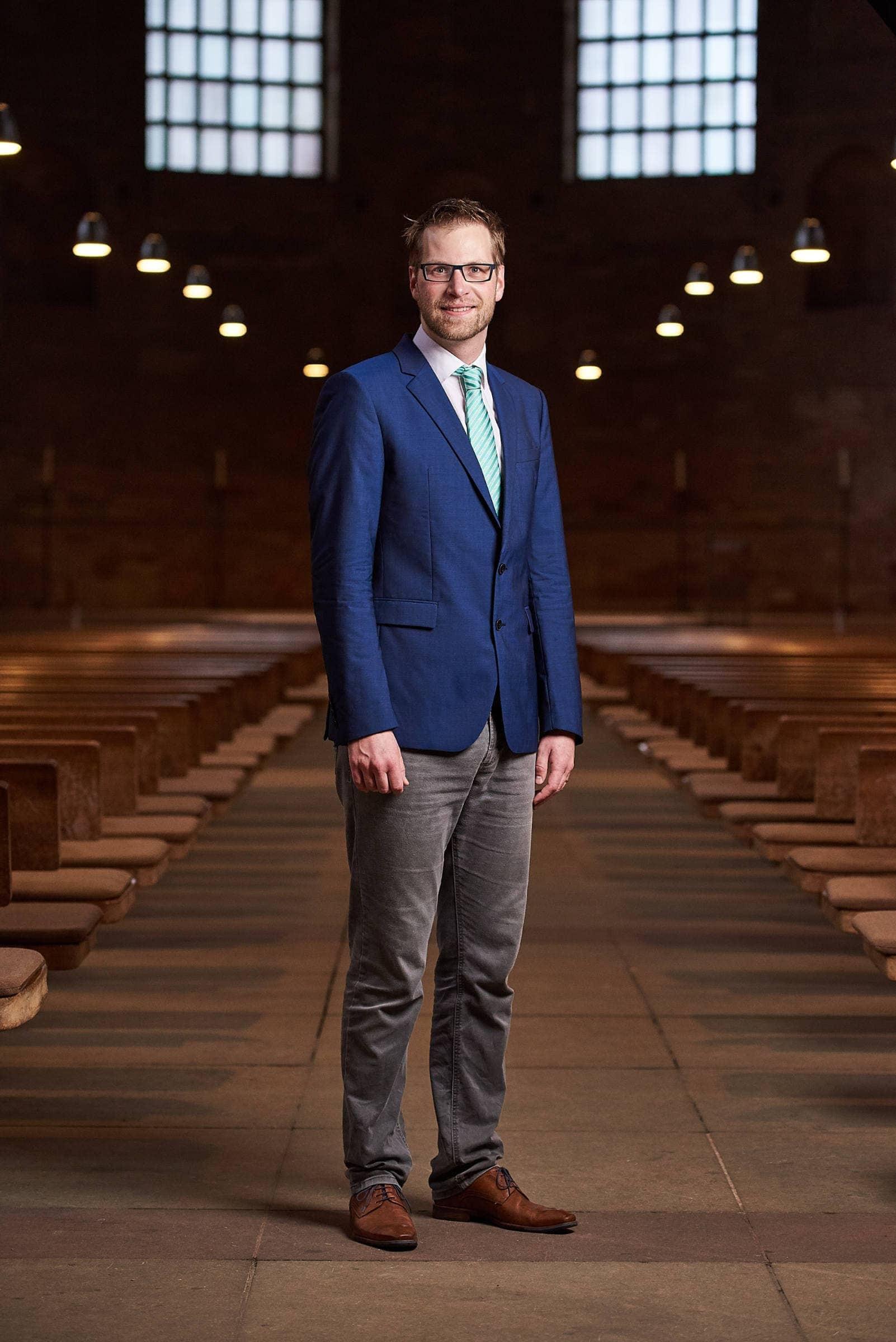 PR Fotografie für die evangelische Kirchengemeinde Trier, Pfarrer Matthias Ratz