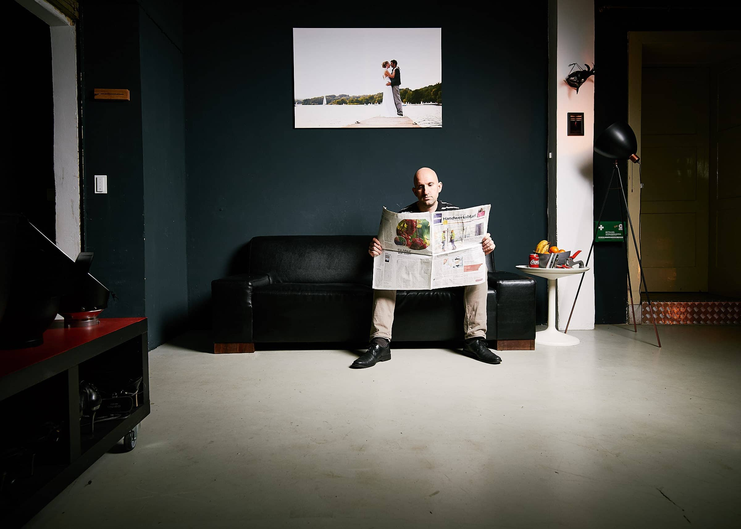 Druck von Leinwänden im Fotostudio von Kliewer Fotografie