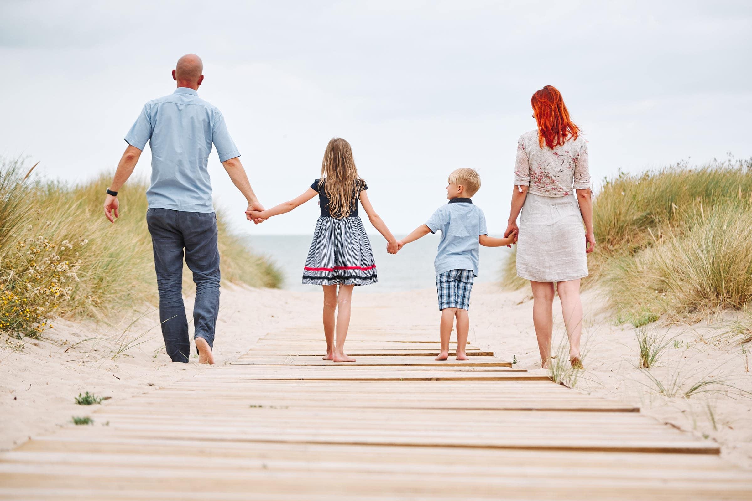 familienfoto am strand